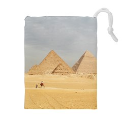 Giza Pyramids Drawstring Pouches (extra Large)