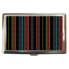 Multicolored Dark Stripes Pattern Cigarette Money Cases
