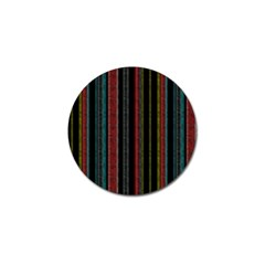 Multicolored Dark Stripes Pattern Golf Ball Marker (4 Pack)