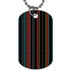 Multicolored Dark Stripes Pattern Dog Tag (two Sides)