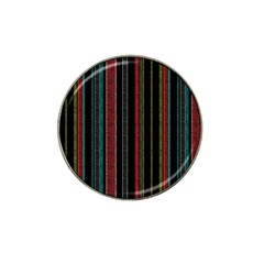 Multicolored Dark Stripes Pattern Hat Clip Ball Marker (4 Pack)