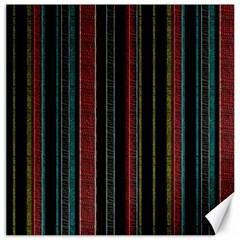 Multicolored Dark Stripes Pattern Canvas 16  X 16