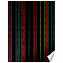 Multicolored Dark Stripes Pattern Canvas 18  X 24