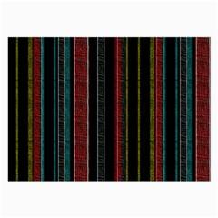 Multicolored Dark Stripes Pattern Large Glasses Cloth (2 Side)