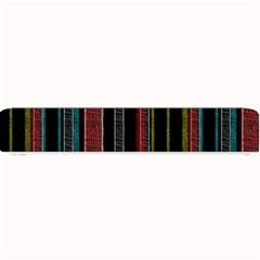 Multicolored Dark Stripes Pattern Small Bar Mats