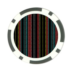 Multicolored Dark Stripes Pattern Poker Chip Card Guard