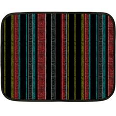 Multicolored Dark Stripes Pattern Fleece Blanket (mini)