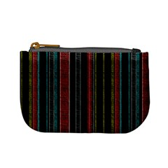 Multicolored Dark Stripes Pattern Mini Coin Purses