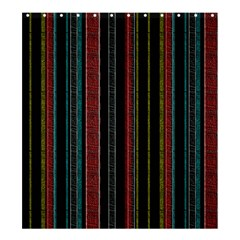 Multicolored Dark Stripes Pattern Shower Curtain 66  X 72  (large)