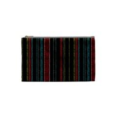 Multicolored Dark Stripes Pattern Cosmetic Bag (small)