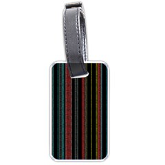 Multicolored Dark Stripes Pattern Luggage Tags (two Sides)