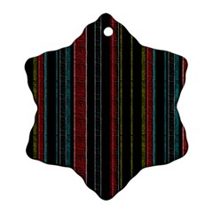 Multicolored Dark Stripes Pattern Ornament (snowflake)