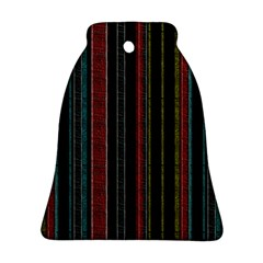 Multicolored Dark Stripes Pattern Ornament (bell)