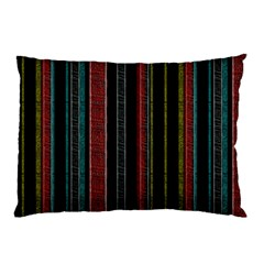 Multicolored Dark Stripes Pattern Pillow Case (two Sides)