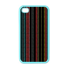 Multicolored Dark Stripes Pattern Apple Iphone 4 Case (color)