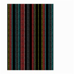 Multicolored Dark Stripes Pattern Small Garden Flag (two Sides)