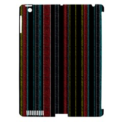 Multicolored Dark Stripes Pattern Apple Ipad 3/4 Hardshell Case (compatible With Smart Cover)
