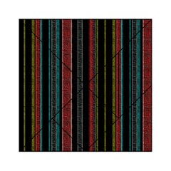 Multicolored Dark Stripes Pattern Acrylic Tangram Puzzle (6  X 6 )