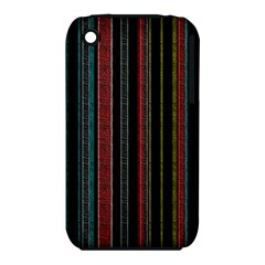 Multicolored Dark Stripes Pattern Iphone 3s/3gs
