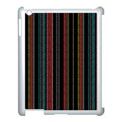 Multicolored Dark Stripes Pattern Apple Ipad 3/4 Case (white)