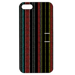Multicolored Dark Stripes Pattern Apple Iphone 5 Hardshell Case With Stand