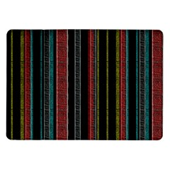 Multicolored Dark Stripes Pattern Samsung Galaxy Tab 10 1  P7500 Flip Case