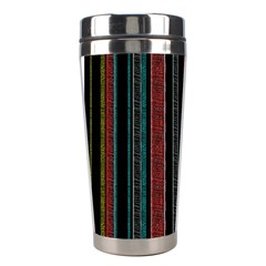 Multicolored Dark Stripes Pattern Stainless Steel Travel Tumblers