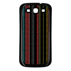 Multicolored Dark Stripes Pattern Samsung Galaxy S3 Back Case (black)