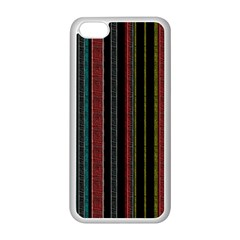Multicolored Dark Stripes Pattern Apple Iphone 5c Seamless Case (white)
