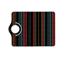 Multicolored Dark Stripes Pattern Kindle Fire Hd (2013) Flip 360 Case