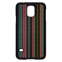 Multicolored Dark Stripes Pattern Samsung Galaxy S5 Case (black)