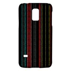 Multicolored Dark Stripes Pattern Galaxy S5 Mini