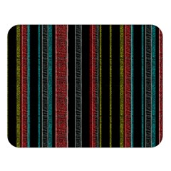 Multicolored Dark Stripes Pattern Double Sided Flano Blanket (large)