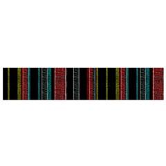 Multicolored Dark Stripes Pattern Small Flano Scarf
