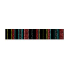 Multicolored Dark Stripes Pattern Flano Scarf (mini)