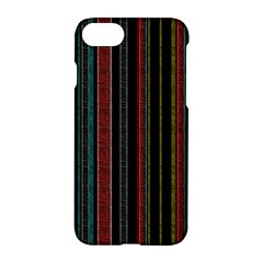 Multicolored Dark Stripes Pattern Apple Iphone 8 Hardshell Case