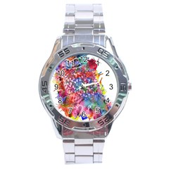 Rainbow Owl Stainless Steel Analogue Watch