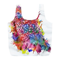 Rainbow Owl Full Print Recycle Bags (l)