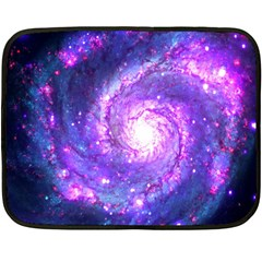 Ultra Violet Whirlpool Galaxy Double Sided Fleece Blanket (mini)