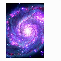 Ultra Violet Whirlpool Galaxy Small Garden Flag (two Sides)