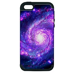 Ultra Violet Whirlpool Galaxy Apple Iphone 5 Hardshell Case (pc+silicone)