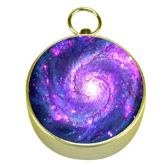Ultra Violet Whirlpool Galaxy Gold Compasses