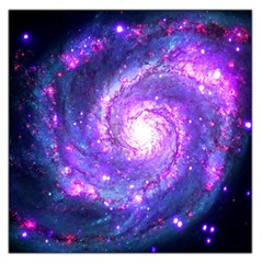 Ultra Violet Whirlpool Galaxy Large Satin Scarf (square)