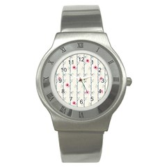 Minimalist Floral Stainless Steel Watch