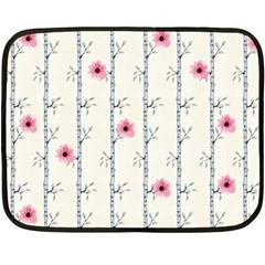 Minimalist Floral Fleece Blanket (mini)