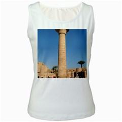 Temple Of Karnak Luxor Egypt  Women s White Tank Top