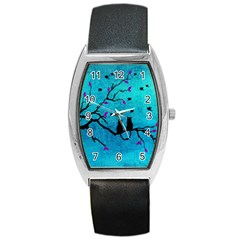 Lovecats Barrel Style Metal Watch