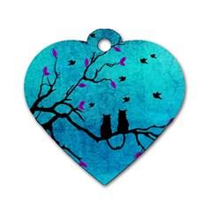 Lovecats Dog Tag Heart (one Side)