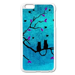 Lovecats Apple Iphone 6 Plus/6s Plus Enamel White Case