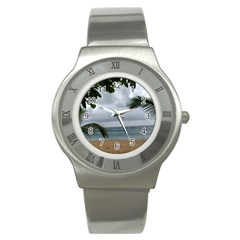 Through The Trees  Stainless Steel Watch